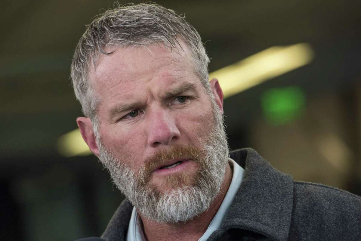 Brett Favre, former quarterback for the Green Bay Packers, speaks during a Bloomberg Radio interview in San Francisco on Feb. 5, 2016.