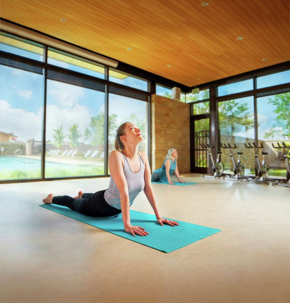 Cane Quarter's resort-quality features includes a tranquil yoga studio with on-demand classes suitable for all levels.