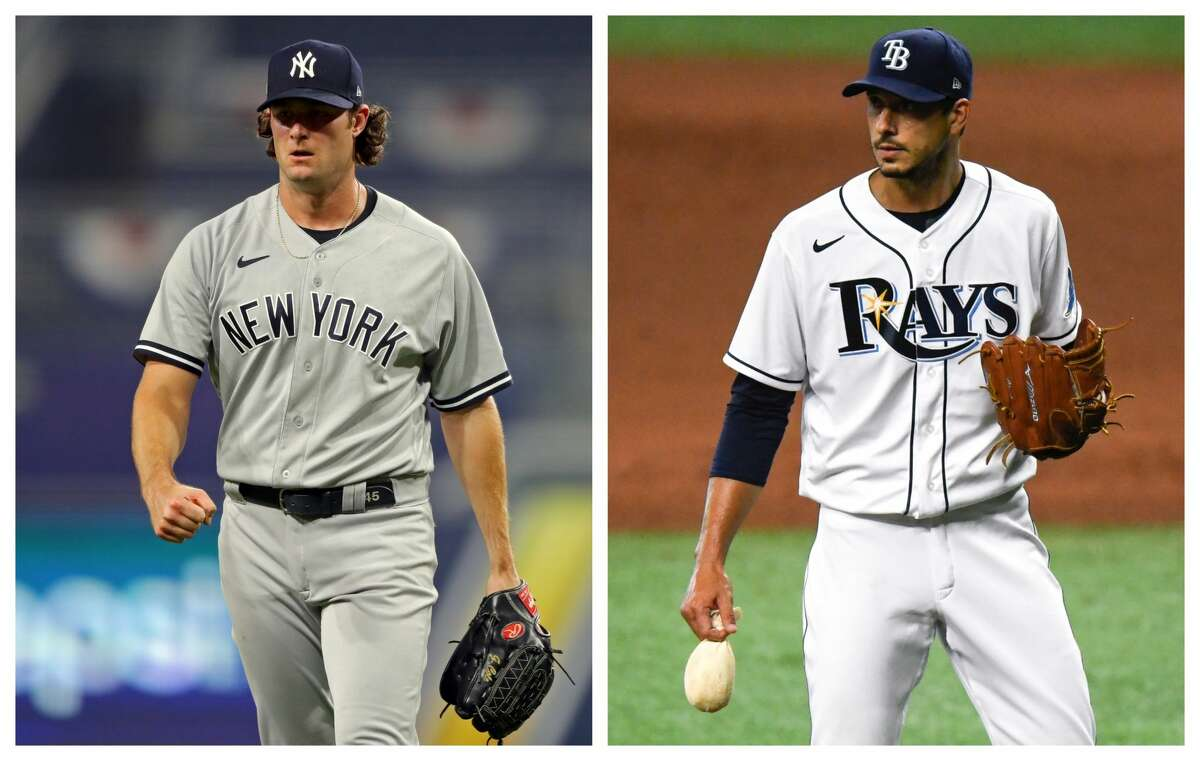The Yankees' Gerrit Cole and the Rays' Charlie Morton, both big parts of previous Astros teams, are hoping to get a shot at their former team in the American League Championship Series.