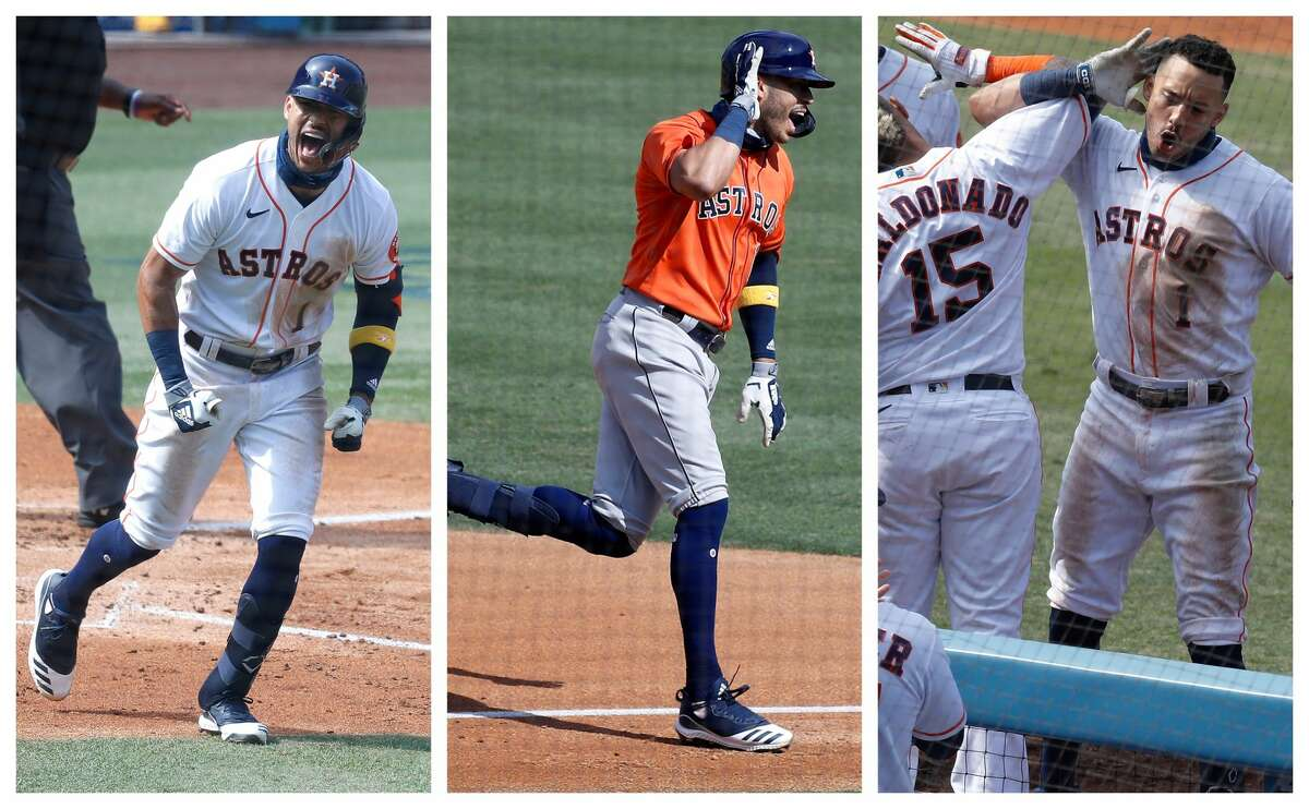 A look at everything the Astros' Carlos Correa does to celebrate a home run.