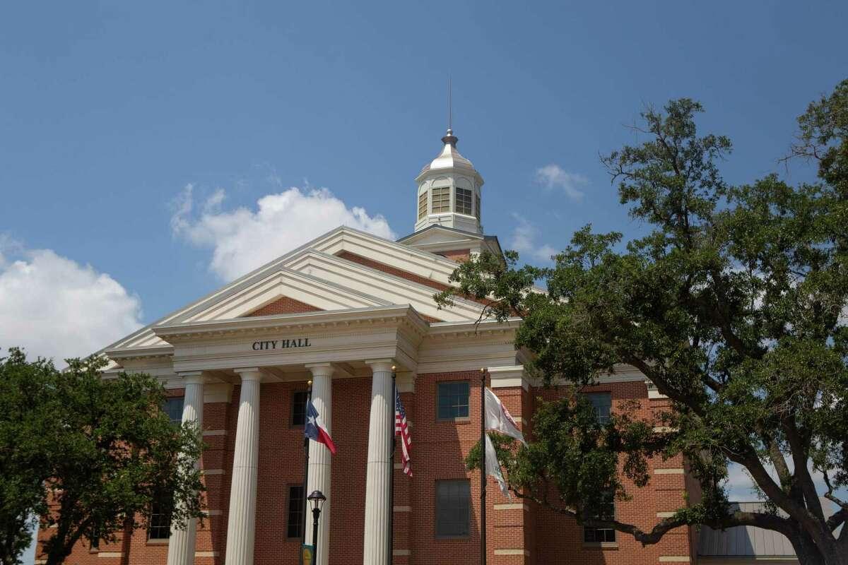 City Hall in downtown Katy, Texas on Thursday, August, 6th, 2020.