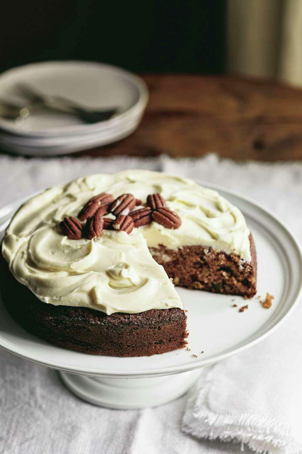 Applesauce Cake with Bourbon Raisins from
