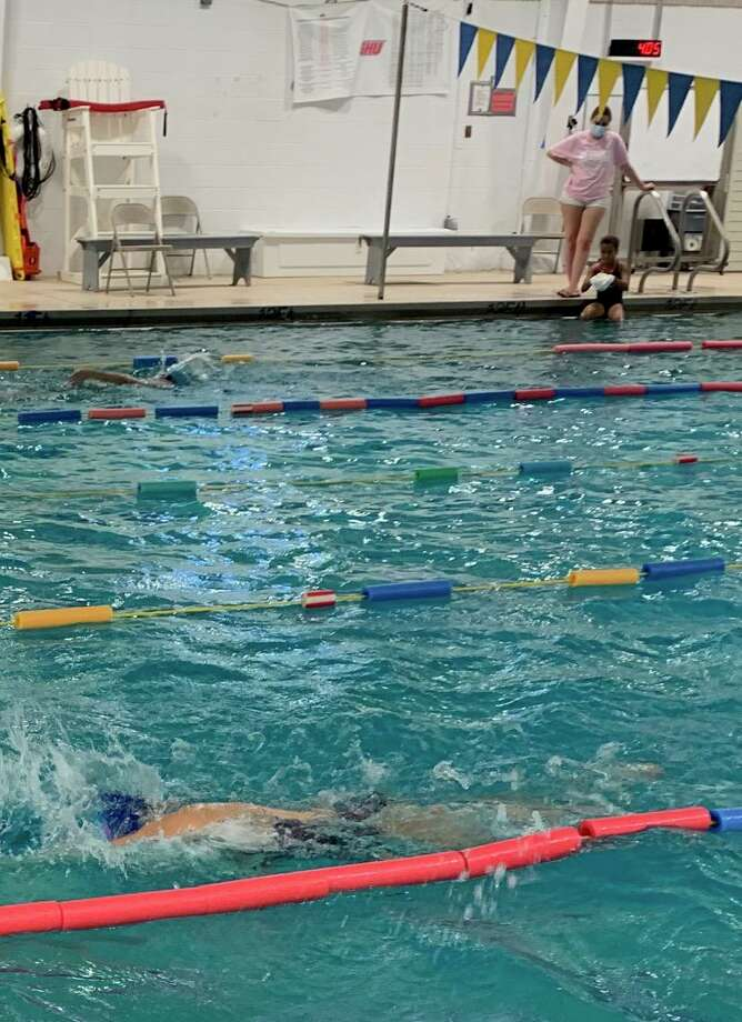 The Aqua Jets Swim Club offers private swimming lessons during the pandemic, following to state and city health and safety guidelines. Photo: Contributed Photo / Aqua Jets Swim Club / Connecticut Post