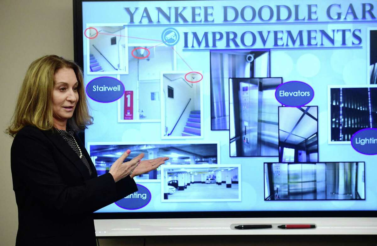 Kathryn Hebert, Director ofTransportation Mobility and Parking. speaks during her presentation as The Norwalk Parking Authority hosts an informational session Wednesday, February 20, 2019. Hebert retired on Oct. 9, 2020 having taken an early retirement package from the city.