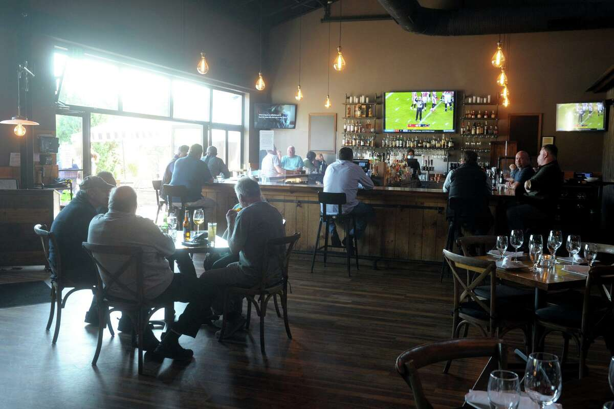 The dining room and bar at Prime One Eleven, in Trumbull, Conn. Oct. 9. 2020.