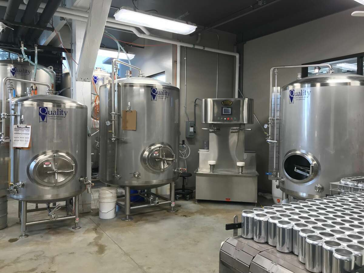 North Channel Brewing Company purchased a new Brite tank, a small holding tank where the beer is carbonated, with a state grant.