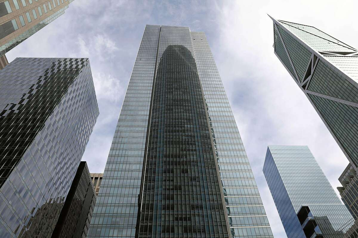 Millennium Tower (center) is seen on Friday, October 9, 2020 in San Francisco, Calif.