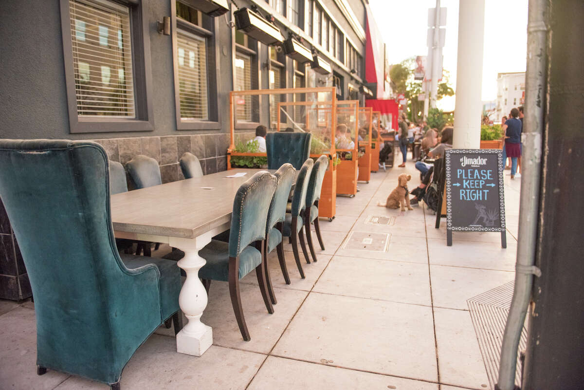 Outdoor dining at the Dorian.