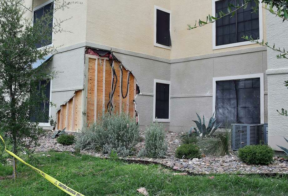 A previous crash into a residence from June 2020 is shown. Photo: Cuate Santos /Laredo Morning Times / Laredo Morning Times