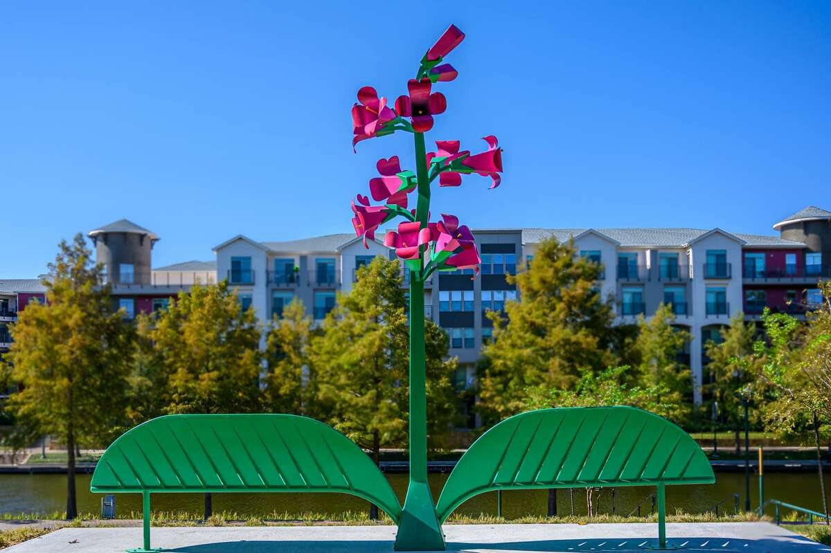 Four new art benches were added to the growing collection on Oct. 7 by officials from The Woodlands Arts Council. The site three bench, located at the southside of The Woodlands Waterway across from The Cynthia Woods Mitchell Pavilion, is