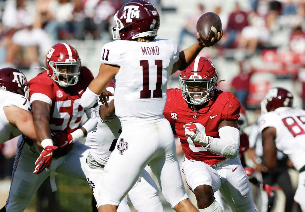 Kellen Mond had one key mistake, an interception returned for a touchdown, against Alabama but is still the man at A&M.