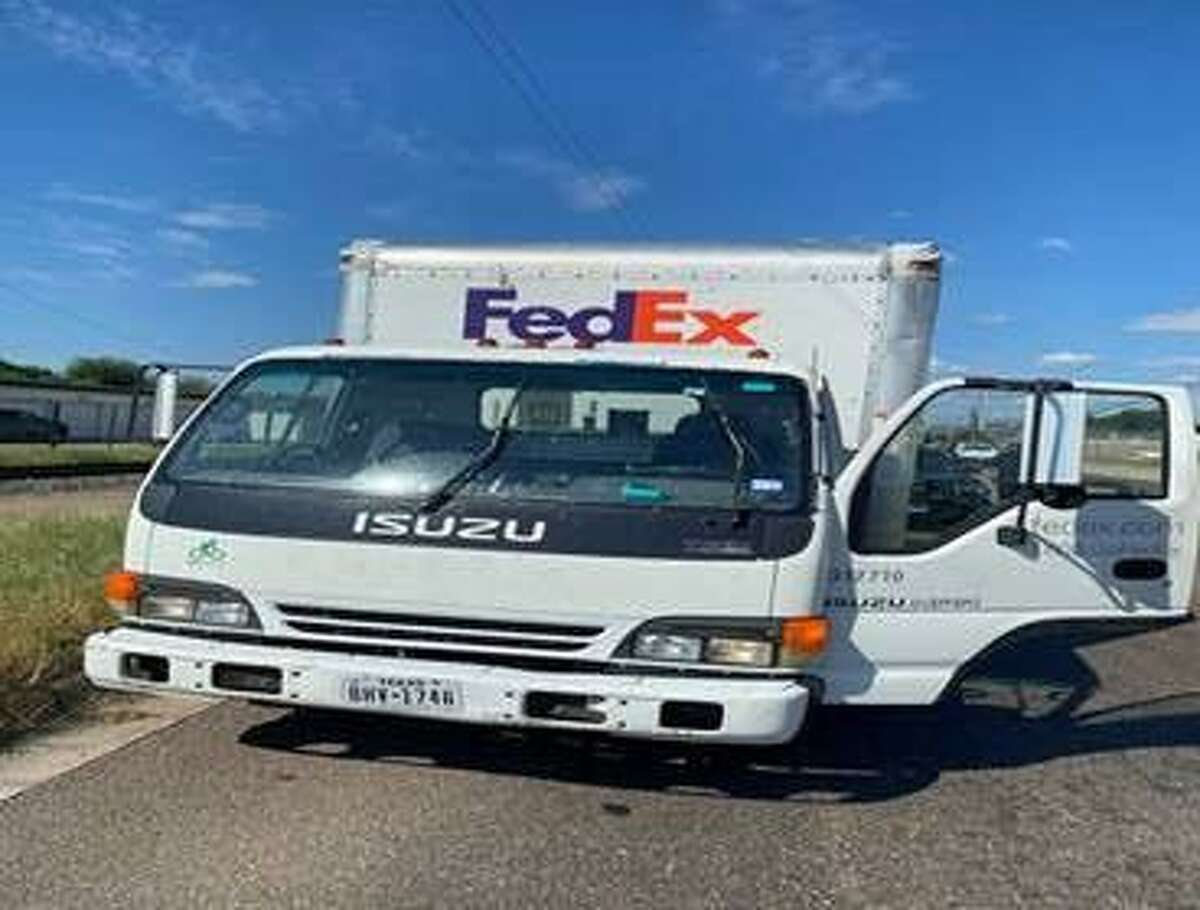 Authorities said this is the FedEx truck that a man attempted to steal. The suspect was arrested and charged with theft of motor vehicle.