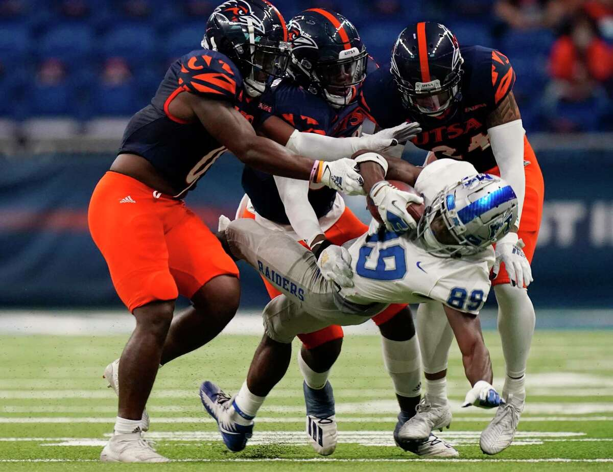 UTSA defenders will have their hands full against BYU's potent offense led by quarterback Zach Wilson and an offensive line that stands 6-foot-4 and weighs 300 pounds on average.