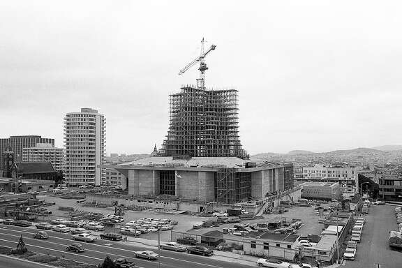 The new St. Mary's Cathedral on Geary under construction,  September 3, 1968