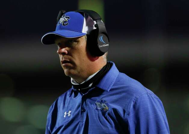 New Caney head coach Travis Reeve is seen during the first quarter of a District 8-5A high school football game at Randall Reed Stadium, Friday, Oct. 9, 2020, in Porter. Photo: Jason Fochtman, Staff Photographer / 2020 © Houston Chronicle