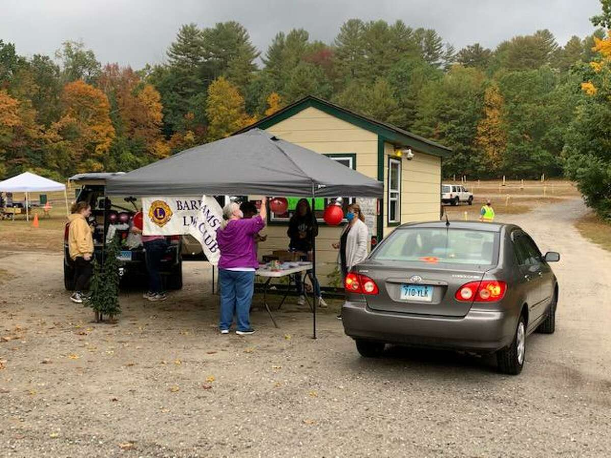 The Barkhamsted Lions Club held its first bingo fundraiser at the Pleasant Valley Drive-In Theatre in Barkhamsted Sept. 29. More than 100 people attended.