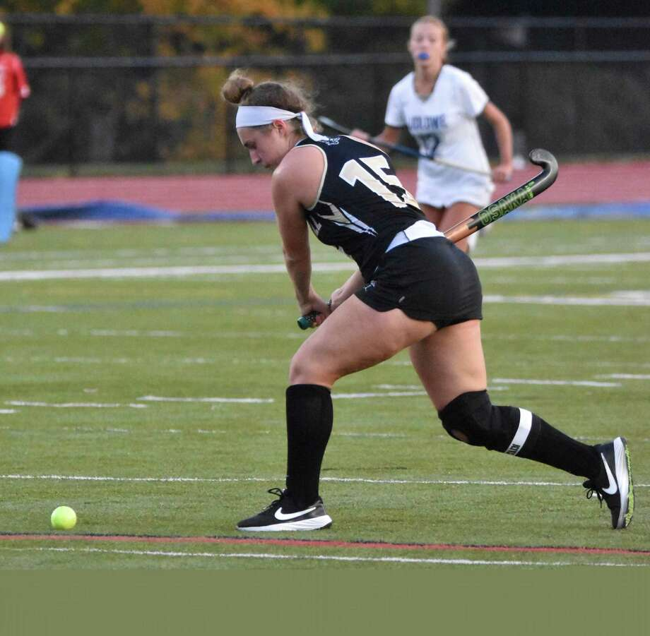 Senior tri-captain Gigi Socci assisted on the Eagles' first goal in their win over Fairfield Ludlowe. Photo: Trumbull Athletics / Contributed Photo / Trumbull Times