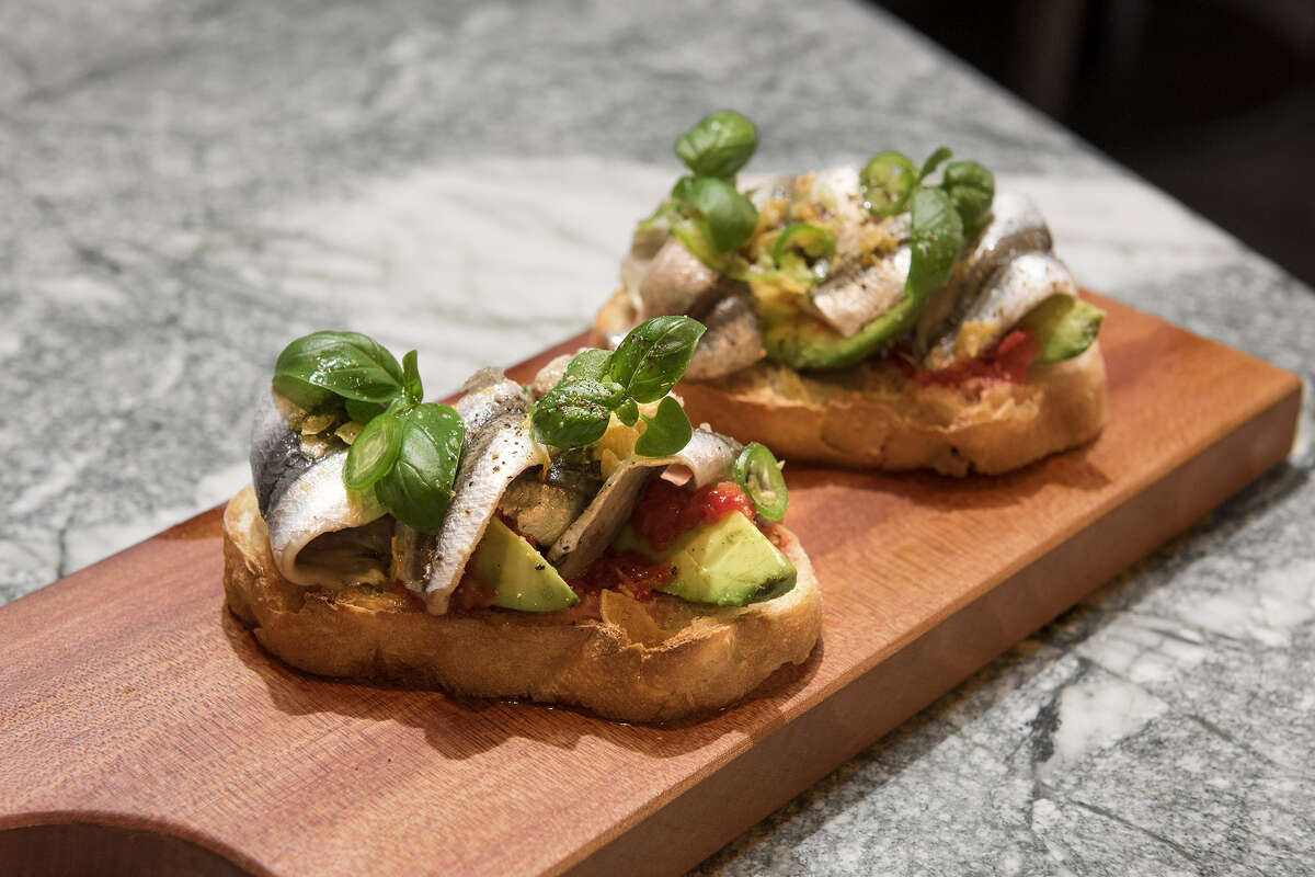 The Anchovy Project: SF Bay 'Boquerones' - Avocado, tomato, toasts
