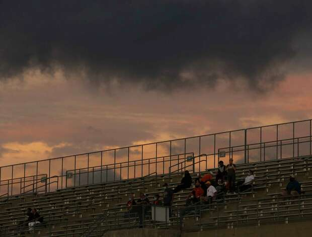Dobie Longhorns fans watching from the stands during the first quarter of the game against Bush Broncos Friday, Oct. 9, 2020, at Hall Stadium  in Missouri City. Photo: Yi-Chin Lee, Staff Photographer / © 2020 Houston Chronicle