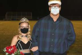 Alexis Tracy and Anthony Beccaria were crowned Brethren's Homecoming Queen and King Friday night at Brethren's football field.