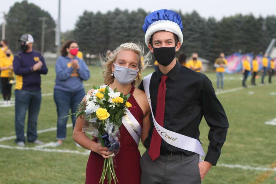 Manistee High School crowned its Homecoming Queen and King before the big game Friday. Jack Holtgren and Olivia Smith were crowned. Photo: Kyle Kotecki/News Advocate