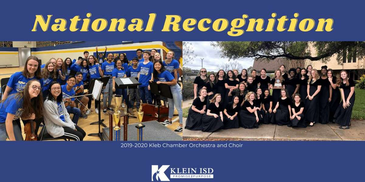 The 2019-2020 Kleb Intermediate School Chamber Orchestra and Chamber Choir in Klein ISD were among the winners of the Foundation for Music Education's 2020 Mark of Excellence project.