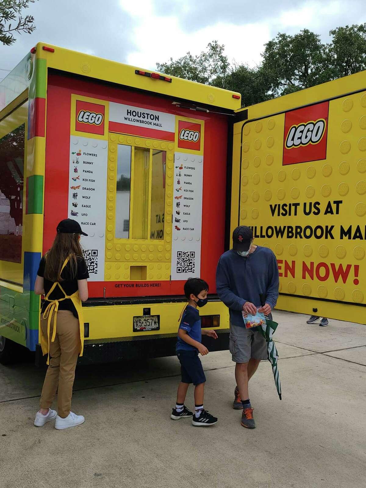 To celebrate the opening of its new LEGO store in Tomball at Willowbrook Mall, The LEGO Group brought its first-ever mobile LEGO truck to the Houston area to offer a sneak peak of what the store will bring.