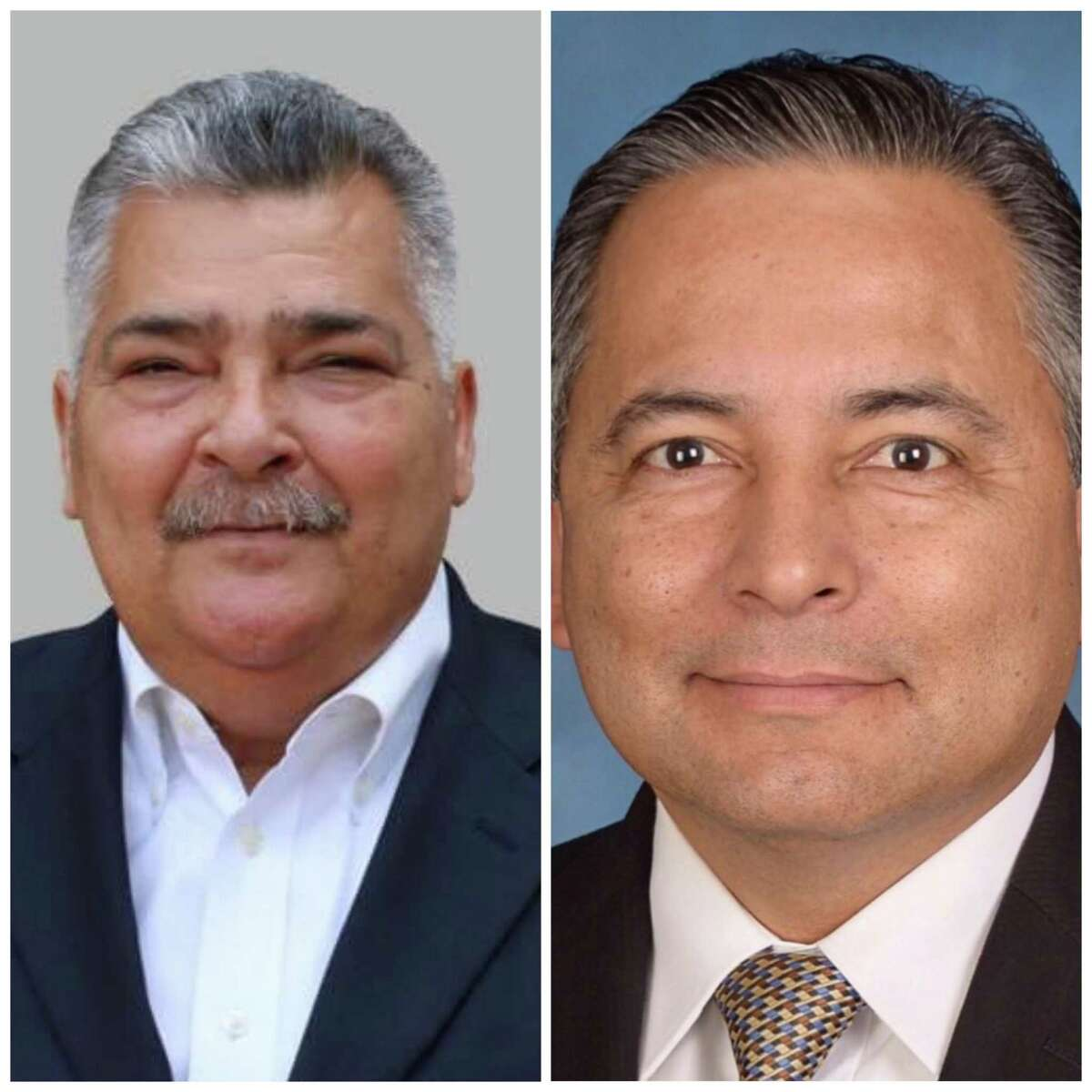 Manuel Lopez, left, lost to Ernesto Arrellano Jr. in a bid for the District 2 seat on the South San ISD board.