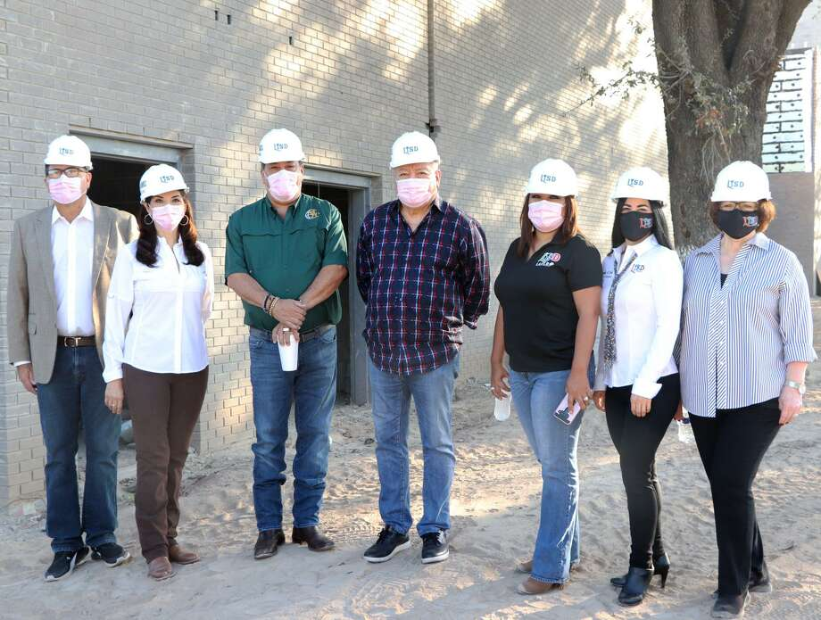 LISD board members toured construction projects Thursday morning at the former Civic Center, Martin High School, Dovalina Elementary School, Cigarroa High School and Nixon High School. Photo: Courtesy /LISD