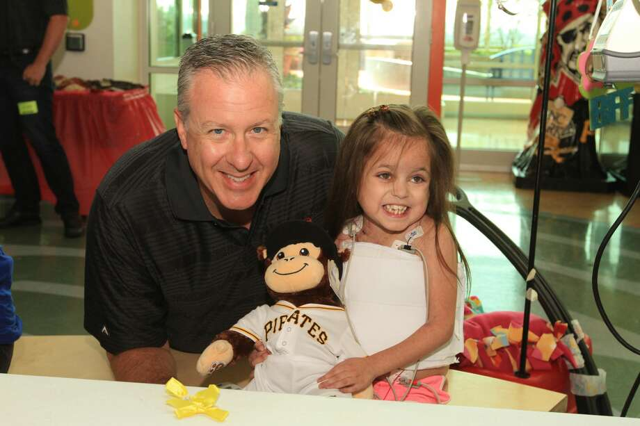 Midland native Paul Emmel is seen making a visit to a Pittsburgh children's hospital. Photo: Photo Provided