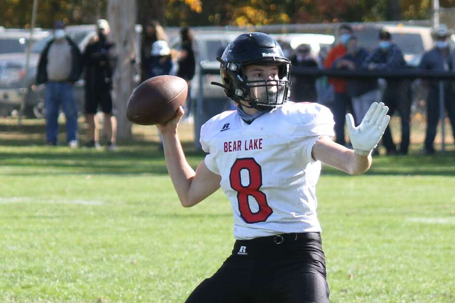 Bear Lake falls by a final score of 74-26 while playing the Mesick Bulldogs on the road on Oct. 10. Photo: Robert Myers
