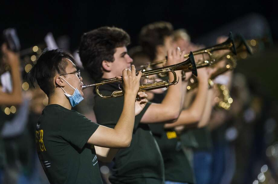 Dow High's band performs during Friday's football game vs. Bay City Western. Photo: Katy Kildee/kkildee@mdn.net