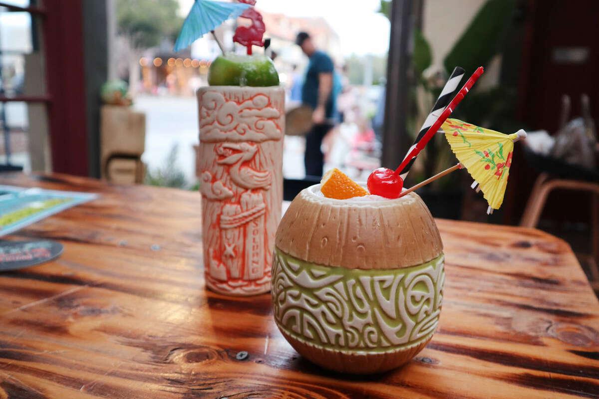 Wine-based tiki cocktails at High Roller Tiki Bar in Solvang