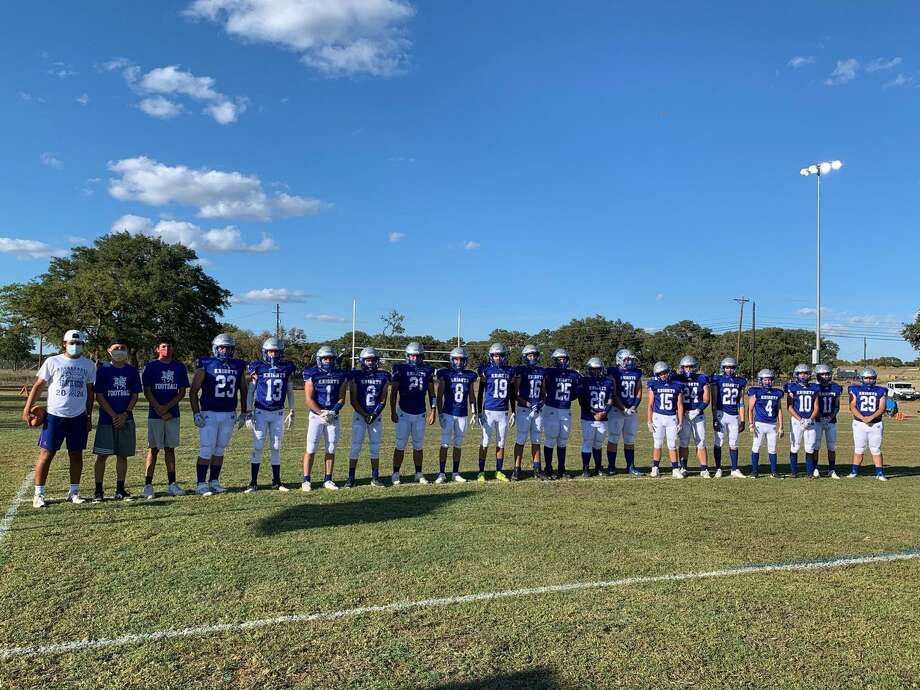 St. Augustine played its first-ever six-man football game Friday falling 58-12 in Kerrville against Our Lady of the Hills. For a full story on the Knights' first game, see page B1 of Sunday's Laredo Morning Times. Photo: Courtesy /St. Augustine Athletics