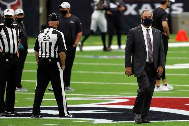Houston Texans Chairman and CEO Cal McNair walks on the field before an NFL football game at NRG Stadium on Sunday, Oct. 11, 2020, in Houston. Photo: Brett Coomer, Staff Photographer / © 2020 Houston Chronicle