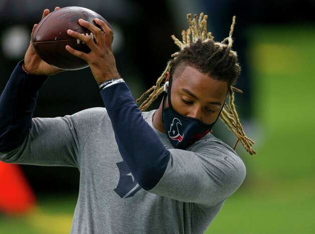 Houston Texans strong safety Justin Reid (20) catches the ball during warmup, before the NFL game against the Jacksonville Jaguars at NRG Stadium on Sunday, Oct. 11, 2020, in Houston. Photo: Godofredo A. Vásquez, Staff Photographer / © 2020 Houston Chronicle