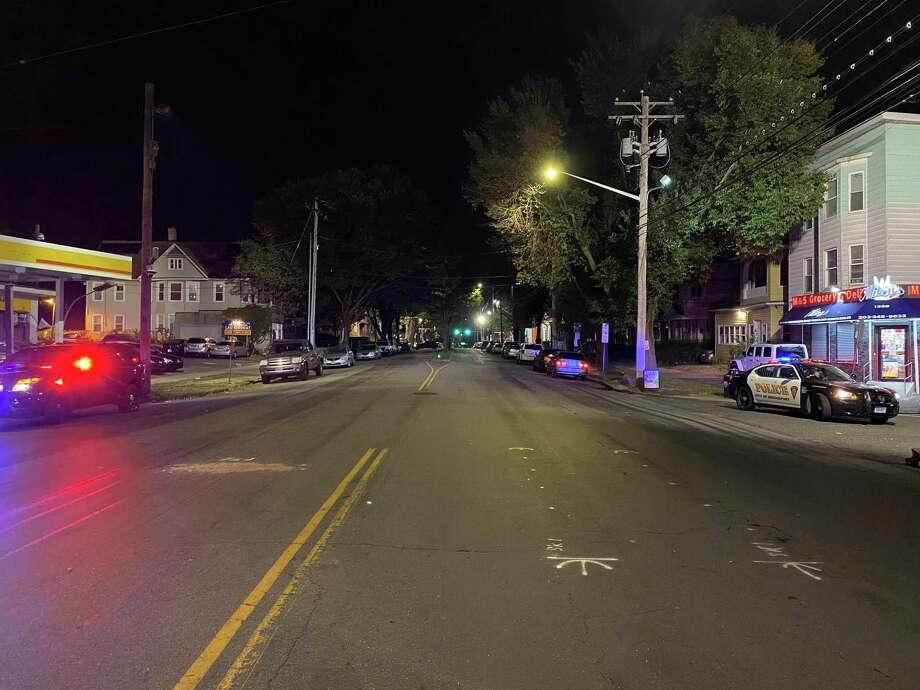 A Bridgeport woman was injured when she was struck by a car while crossing Park Avenue Friday evening, Oct. 9. Photo: Contributed Photo / Bridgeport Police Department / Connecticut Post