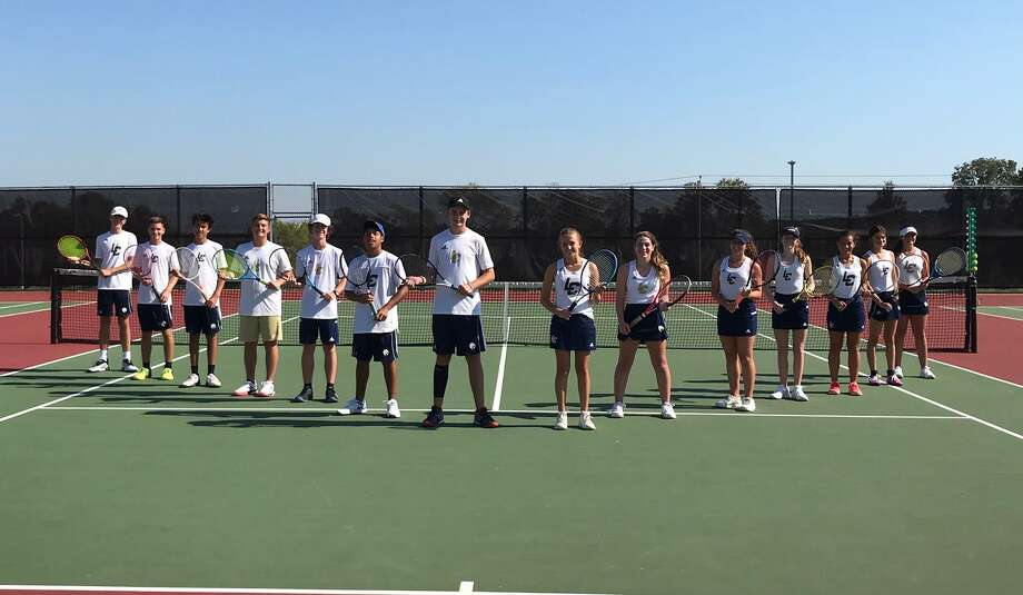 The Lake Creek tennis team won its first-ever district championship recently. Photo: Submitted