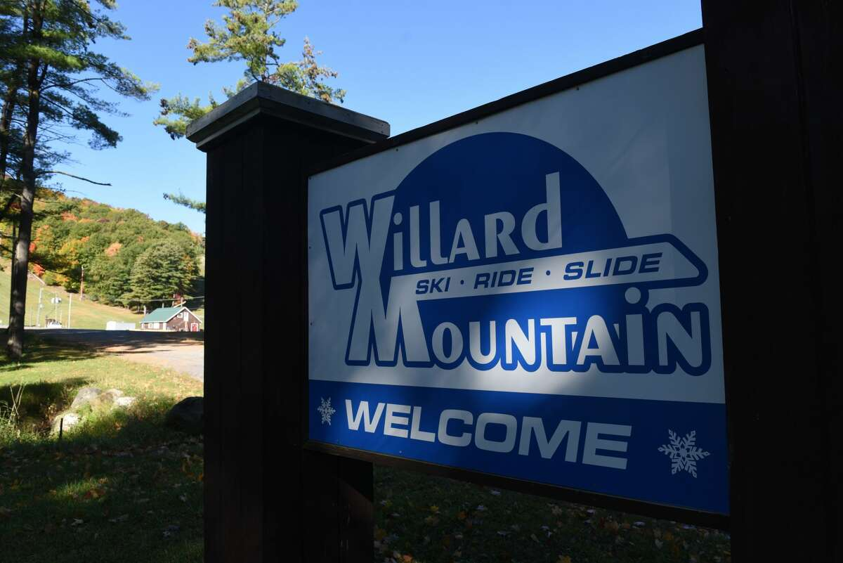 Entrance sign for Willard Mountain on Friday, Oct. 9, 2020, in Greenwich, N.Y. Ski resort owner Chic Wilson is planning for the upcoming season. (Will Waldron/Times Union)
