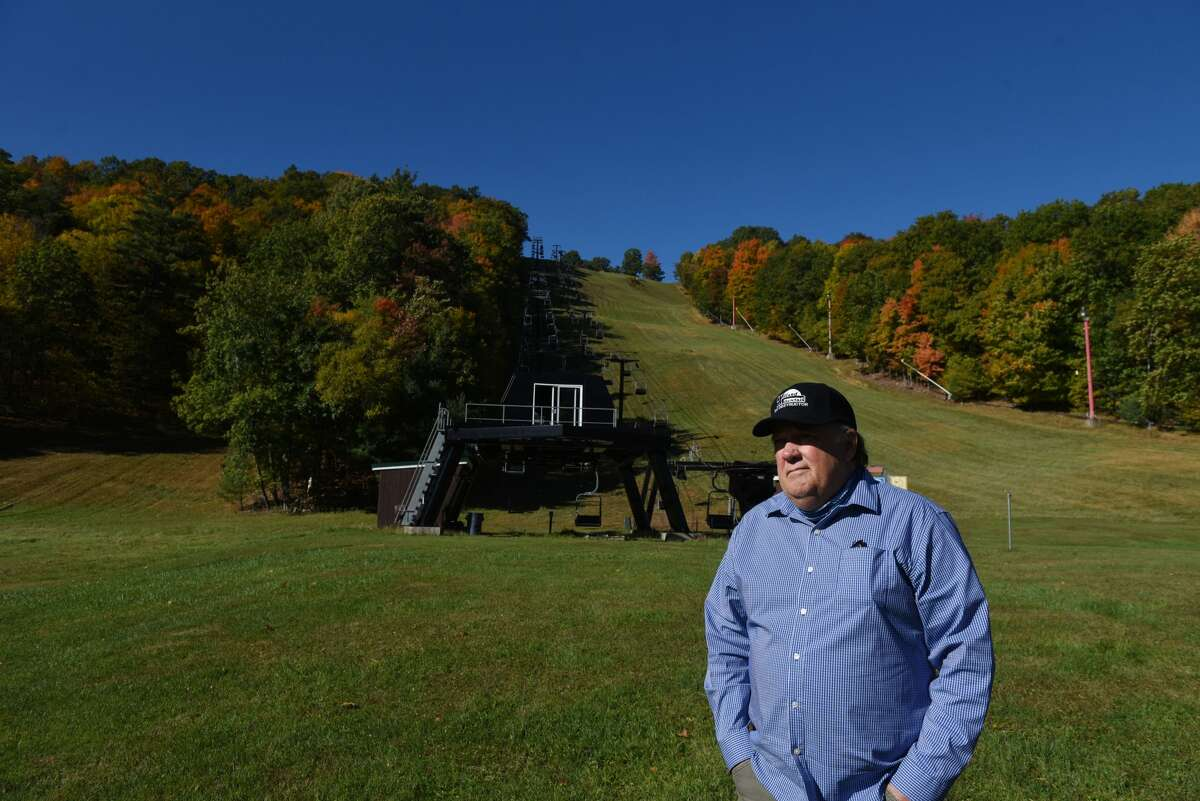 Chic Wilson, owner of Willard Mountain, is pictured at his ski resort on Friday, Oct. 9, 2020, in Greenwich, N.Y. Winter resorts are planning for the upcoming season. (Will Waldron/Times Union)