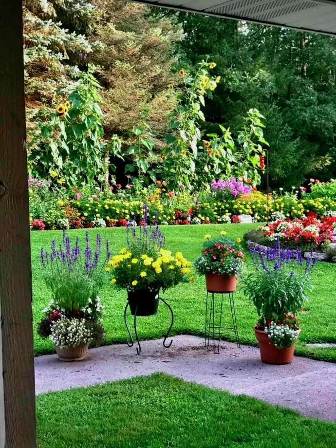 A view of Don Block's garden from the patio. (Courtesy photo)