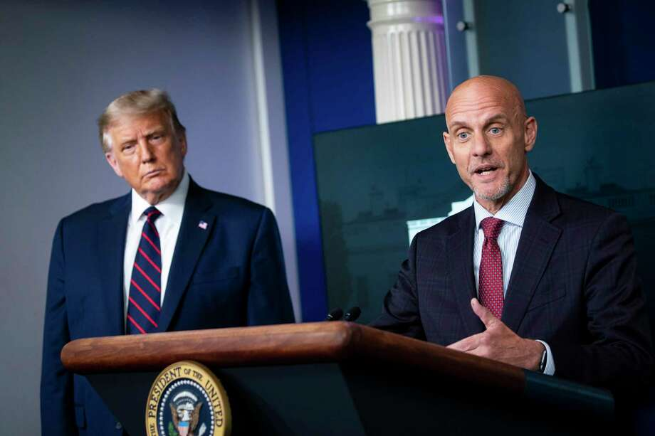 Food and Drug Administration Commissioner Stephen Hahn speaks during a coronavirus briefing at the White House in August 2020. Photo: Photo For The Washington Post By Al Drago / Al Drago