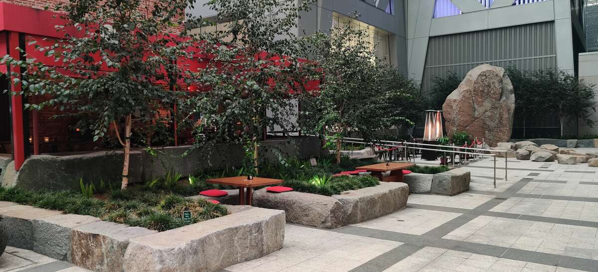 Town Hall has worked to expand its outdoor seating area and recently completed a remodel of its patio area to welcome diners for meals. A number of the tables, however, are located in a plaza next door and may not be able to stand up to the cold weather around the corner.