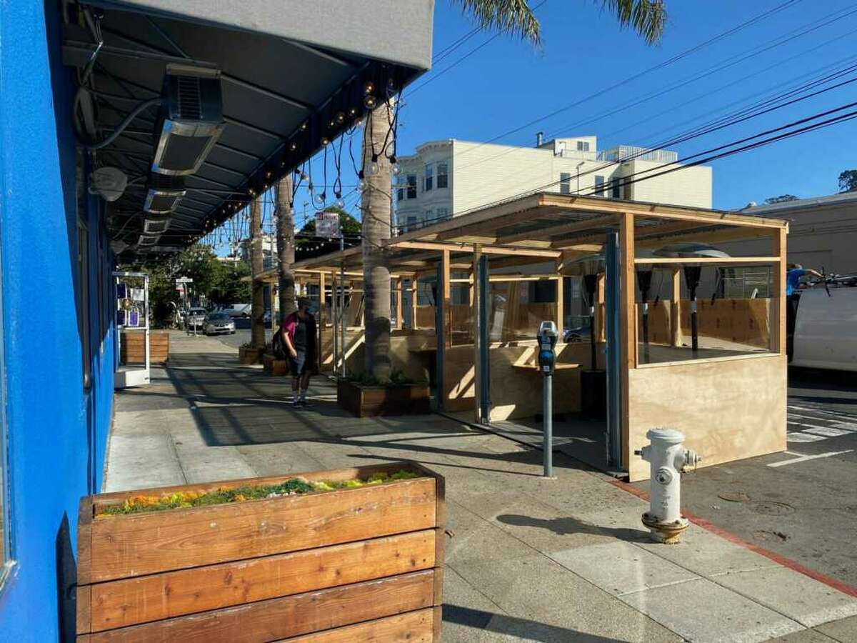 The outdoor cabanas at AL's Place is meant to help shelter diners from the cold and is expected to be completed and available for eating by October 14.