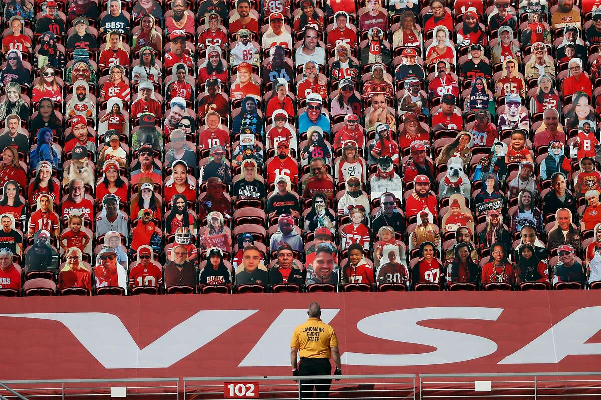 Fan cutouts were the only spectators in attendance for 49ers games at Levi's Stadium last season.