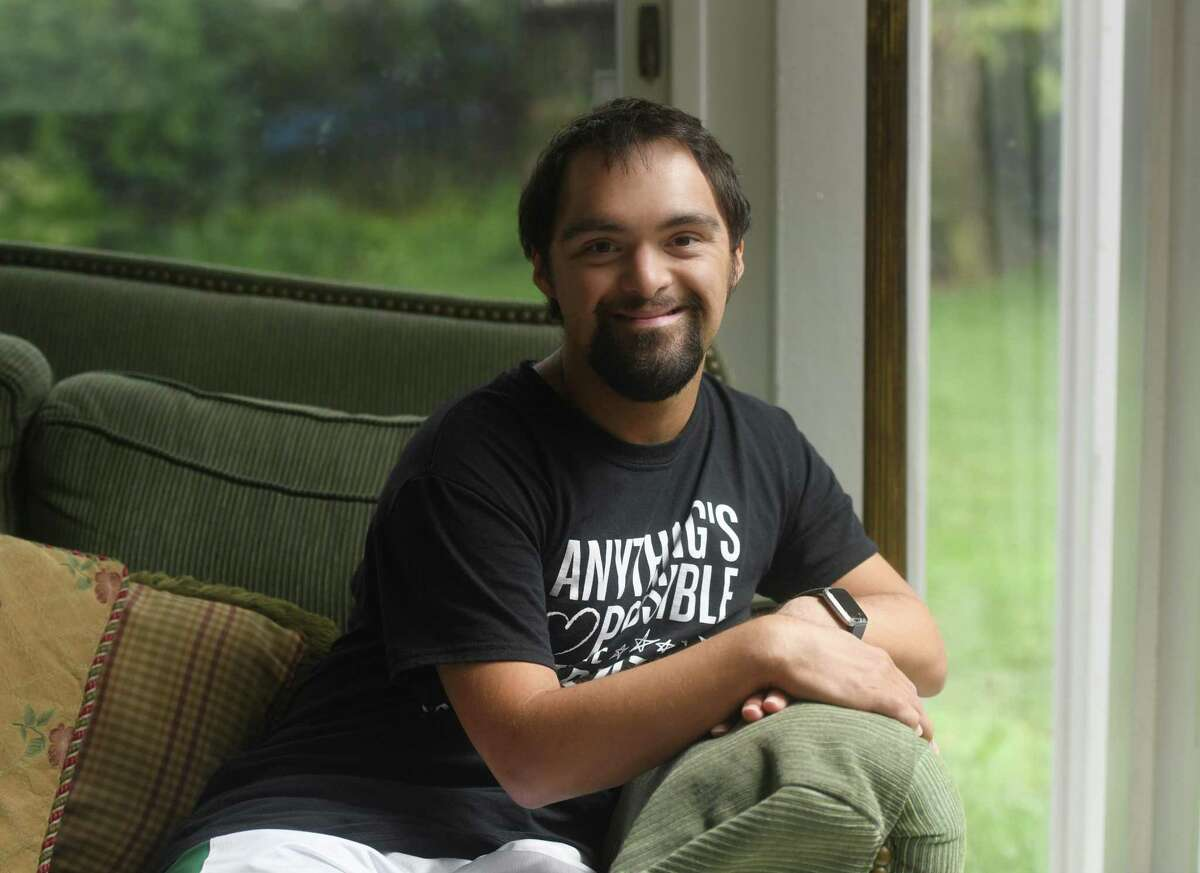 Abilis client Danny Clarke poses at his home in Greenwich, Conn. Wednesday, Aug. 19, 2020.