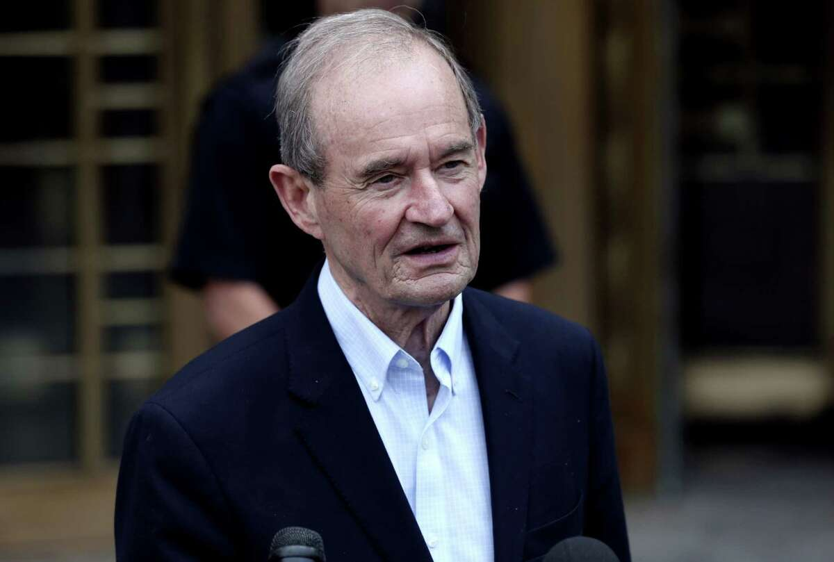 Attorney David Boies speaks outside federal court in New York on July 8, 2019.