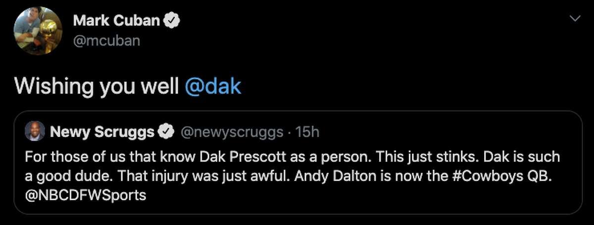 Dallas billionaire Mark Cuban offered support.