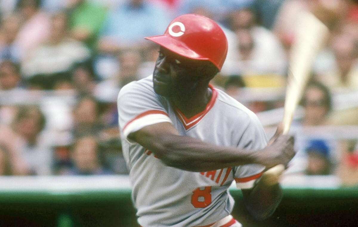 CIRCA 1970's: Second baseman Joe Morgan #8 of the Cincinnati Reds starts to swing at a pitch circa mid 1970's during a Major League Baseball game. Morgan played for the Reds from 1972-79. ~~