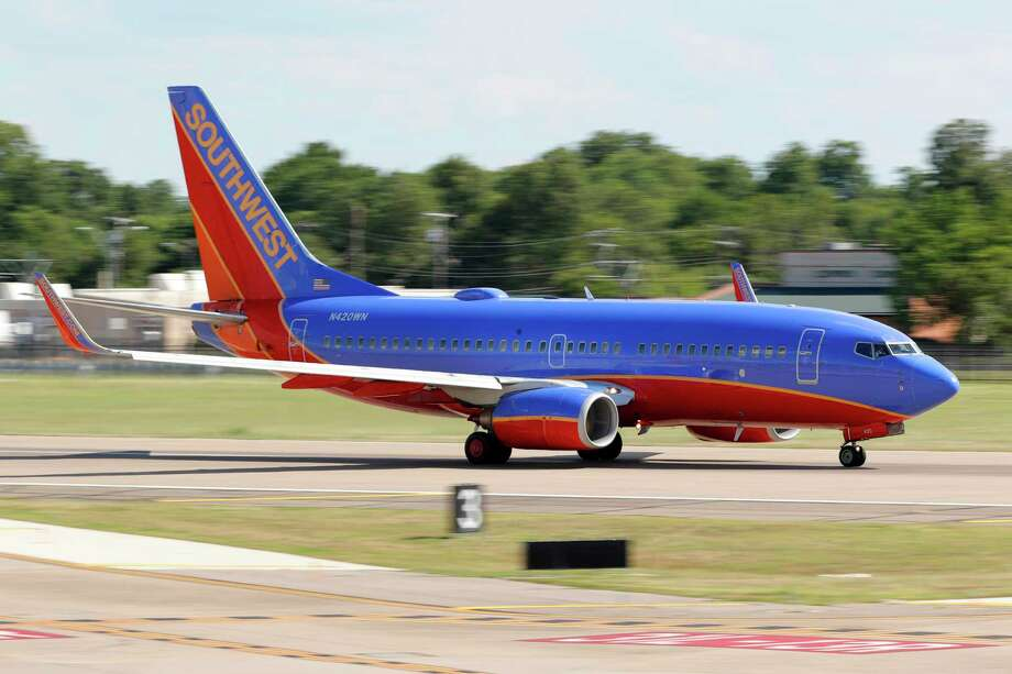 A Southwest Airlines jet takes off from Love Field in Dallas, Wednesday, June 24, 2020. The airline is expanding to Houston's Bush Intercontinental Airport. Photo: Tony Gutierrez, STF / AP / Copyright 2019 The Associated Press. All rights reserved.